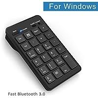 Kabelloser Bluetooth Ziffernblock: Cateck kabelloser, 23 Tasten Bluetooth Ziffernblock für Windows PCs und Laptops in Schwarz.