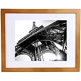 bojin fotos 21x 28cm (11x 14inch) de gran calidad Foto Frame de madera para colgar. 21x 27cm (8.5x 11inch) con paspartú Póster Marco con plástico Scheibe