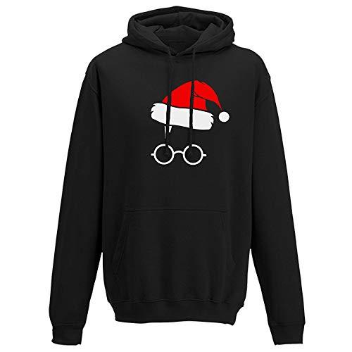 Zegeey Damen Kapuzenpullover Sweatshirt Party Weihnachts KostüM Print Langarm Hoodie LäSsige Herbst Winter Festliche Pullover Bluse Oberteile Warm Bequem Sportswear(Schwarz,EU-38/CN-XL) -
