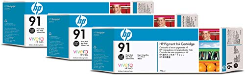 Original HP C9481A / 91, 3X Premium Drucker-Patrone, Schwarz Foto, 3 x 775 ml -