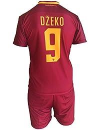 Complete Pantalones y Camiseta de fútbol Roma Edin Dzeko 9 Réplica Autorizados 2017 ...