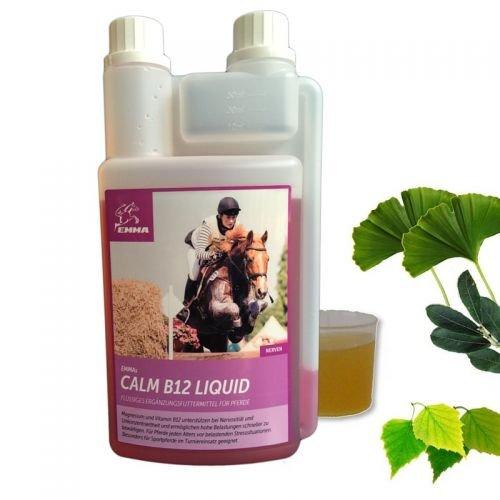 Magnesium-Vitamin B12 Pferd, Ergänzungsfutter für die Nerven, bei Stress 1 Liter