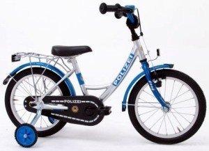 Preisvergleich Produktbild Bachtenkirch Kinder Fahrrad POLIZEI, silber/blau, 12.5 Zoll, 1300410-PZ-77
