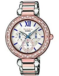 Casio Reloj Analógico para Mujer de Cuarzo con Correa en Acero Inoxidable SHE-3061SPG-