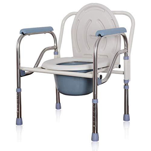 Leichte Klappstuhl Töpfchen, Nachttisch für ältere Senioren, Behinderte, Badestuhl, Duschkommode Stuhl, Behinderte, Großeltern, Schwangere Frauen Badezimmer Unterstützung ZHANGAIZHEN (Töpfchen Stuhl Griffe)