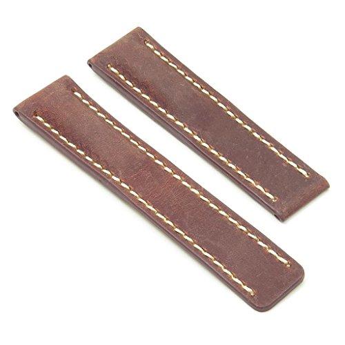 dassari Venture Rost Distressed Italienisches Leder Armbanduhr Band für Breitling 20/1820mm