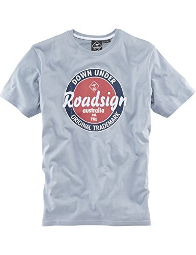 ROADSIGN australia Basic T-Shirt Round and Round Jeansblau