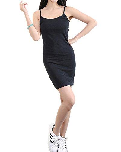 Monissy Femme Swing Robe sans manches Mini robe Mini robe Noir