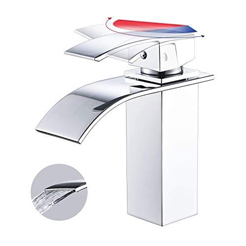 Bonade rubinetto bagno lavabo miscelatore lavabo monocomando per lavabo rubinetto per lavabo finitura cromata materiale d'ottone