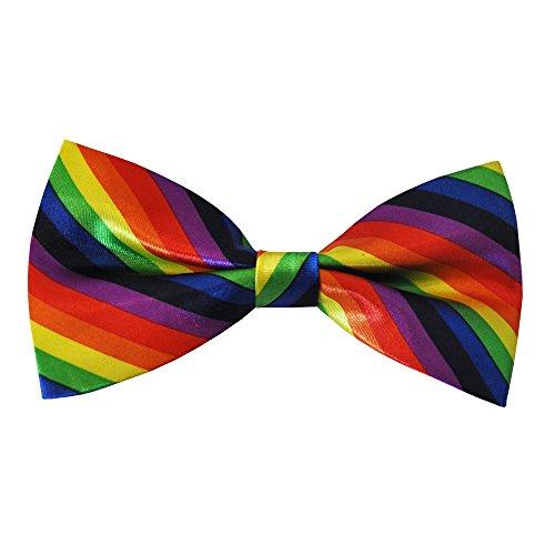We Show Pride Gay Stolz Regenbogen Fliege (Rainbow Bow Tie)