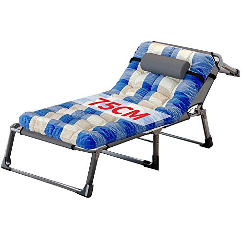 LVZAIXI Relaxer- Sessel Mit Kopfkissen, Extrabreitem, Rutschfestem Design, 190 cm Klapp Sonnenliege Für Reiseurlaub Garten (Color : E) (Design Relaxer)