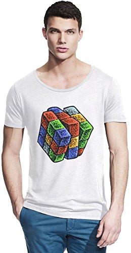 Rubik cube Bamboo Wide Neck T-shirt Large -