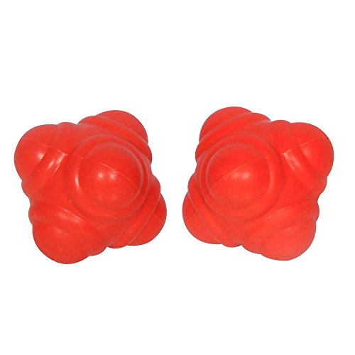 GSI Reaction Balls For Improving Agility/Reflexes/Hand-Eye Coordination (Red) - Pack of 2