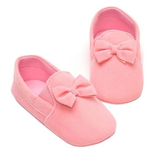 Chaussures Bébé,Fulltime® Chaussures Baby Girl Elastic Band Toddler Prewalker bowknot douce Sole Rose