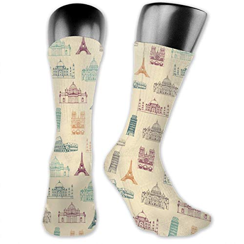 ouyjian Notre-Dame De Paris France Socks Men & Women Sport Compression Sock for Wear Everyday Working -