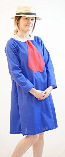 h Tag-Charakter - Madeline Kleid UND Strohhut Maskenkostüm - Jedes Alter - Wie abgebildet, Age 5-6 ()