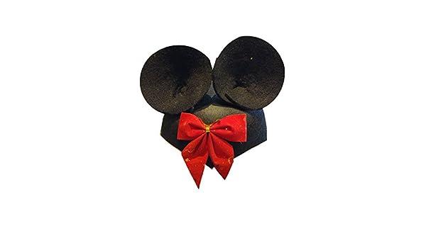 Cappello Minnie Mouse nero con orecchie in feltro per travestirsi da  topolina o topolino (rimuovendo il fiocco) TAGLIA UNICA ADULTO VESTE UNA  TAGLIA DI ... 3025d85a98c4