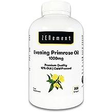 Aceite de Onagra | 1000mg x 200 perlas| Calidad Premium, Prensado en frío,