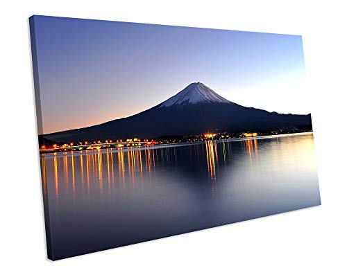 chuanghe3943 Unframe Canvas Printing Sunset Mount Fuji Japan Landscape Canvas Art Print Box Framed Picture Canvas Print Bedroom Bathroom Decoration Wall Art Fuji Box