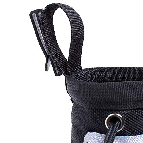 YWRD Haustier Snack Bag Haustier Trainingstasche Tiernahrungsspender Clip Pouch Katzenfestlichkeits-Tasche Einstellbare Umhängetasche Pet Treat Dispenser