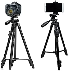 WellTech Tripod with Bluetooth Remote Control Shutter for Mobile Phones DSLR and Sports Cameras