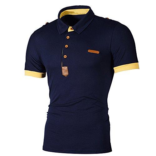 Bellelove Herren Polo Shirt Basic Polohemden Kurzarm Slim Fit M - 3XL (Lauren Polo Ralph 3xl)