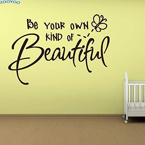 yiyiyaya Seien Sie Ihre eigene Art von schönen Brief Wandaufkleber Wandtattoos Für Kinder Schlafzimmer Dekoration Abnehmbare DIY Hause 62 * 44 cm