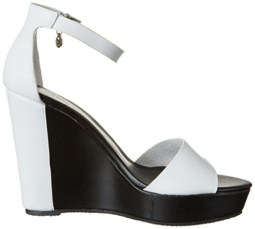 Armani Jeans 9251527p546, Sandales Bout Ouvert Femme Weiß (bianco)