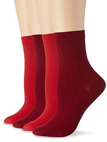 Tommy Hilfiger Damen Freizeitsocken TH Women Soft Cotton Sock 2P, 2er Pack, Mehrfarbig (Tawny Combo 944), 39