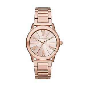 Michael Kors Hartman - Reloj análogico de cuarzo con correa de acero inoxidable para mujer, color oro rosa de Michael Kors