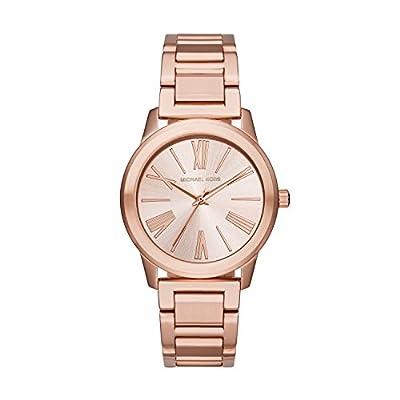 Michael Kors Hartman - Reloj análogico de cuarzo con correa de acero inoxidable para mujer, color oro rosa