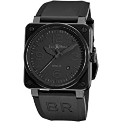 Bell & Ross Men's BR-03-92-PHANTOM Aviation Black Dial Watch Watch
