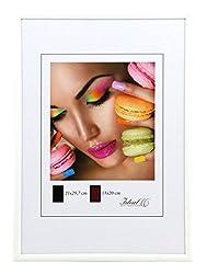 Ideal Life Kunststoff Bilderrahmen 10x15 cm bis 50x70 cm Bilder Foto Rahmen: Farbe: Weiß | Format: 50x70