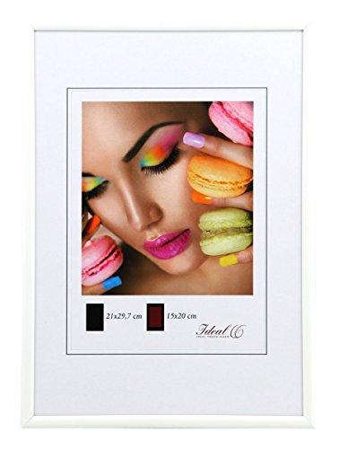 Ideal Life Kunststoff Bilderrahmen 10x15 cm bis 50x70 cm Bilder Foto Rahmen: Farbe: Weiß | Format: 50x70 -