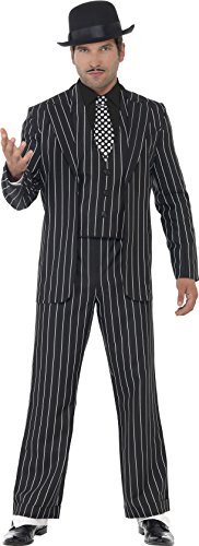 ischer Gangsterboss Kostüm, Jacke, Krawatte, Weste mit Mock Hemd und Hose, Größe: L, 23042 (Halloween-kostüm Ideen, Blonde)