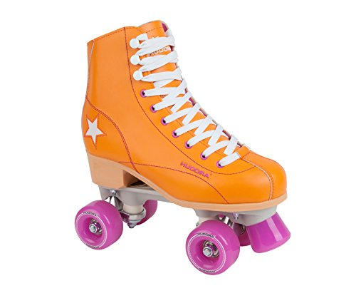 Hudora Disco Rollerskates Unisex Rollschuh, Orange/Lila, 39, 13204