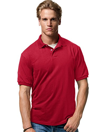 Hanes by Cotton-Blend Jersey Men's Polo -