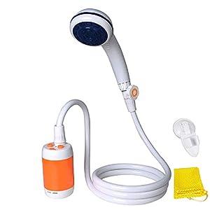 Laserbeak Tragbare Dusche Elektrische Dusche Camping Dusche eingebauter 4800mAh Batterien und mit Duschkopf Absperrventil