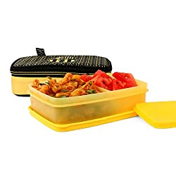 FCBARCELONA Half Time Lunch Box Yellow (Licensed By Cello)