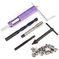 Belissy M10 x 1,25 reparación de roscas de inserción Kit + 12PCS Tornillo manga 1D 2D 1.5D (M10)