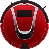 E-KIA Staubroboter Automatischer Staubsauger Hohe Saugleistung Mit SchlagbüRste, Automatische Selbstaufladung, Tropfensensor, Funktioniert Auf Harten BöDen Und Teppichen,red