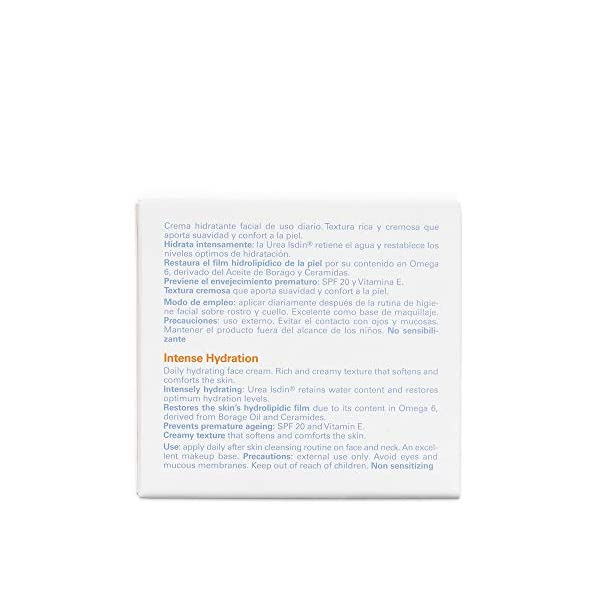 ISDIN Ureadin Crema De Hidratación Intensa (SPF 20, Piel Seca) – 50 ml.