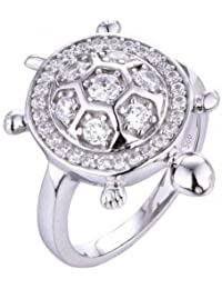 The Lucky Turtle Ring In 925 Silver, Ring For Women- By Ornate Jewels