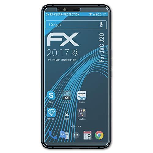 atFolix Schutzfolie kompatibel mit JVC J20 Folie, ultraklare FX Bildschirmschutzfolie (3X)
