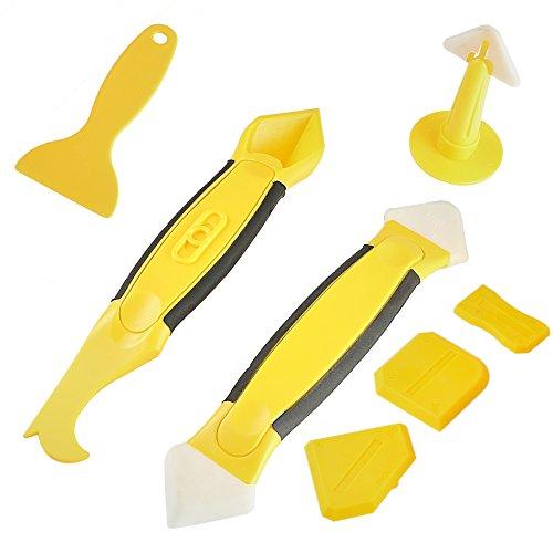 Silikonentferner&silikon fugenwerkzeug Foresight 7In1 Fugenwerkzeug-Set Mit 3 Stücke von Fugenglätter 2Stücke von Werkzeug Schaber Kit&1Stücke of Silikon-Dichtungsmittel Werkzeug 1CaulkingGunNozzle