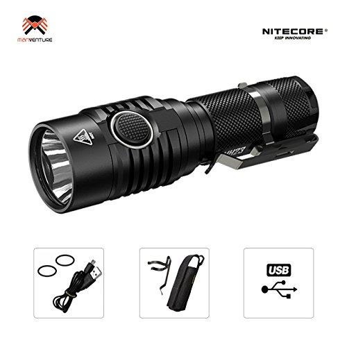 Nitecore® MH23 Taschenlampe Superhelle 1800 Lumen CREE XHP35 HD LED IPX8 Wasserdicht Micro-USB Aufladbar 8 Leuchtungsmodi bis zu 330 Stunden Laufzeit Taktische Lampe Aktualisierung von MH20 Taschenlampen (Akku Nicht Enthalten)