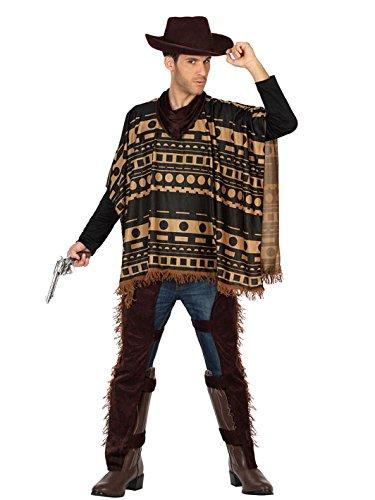 Verruchter Cowboy Kostüm Wilder Westen Plus Size braun-beige M / L