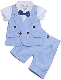 YIZYIF Traje De Ceremonia Ropa De Bautizo Niño Conjunto Dos Piezas Camiseta Pantalones Para Bebé Niño 2-5 Años
