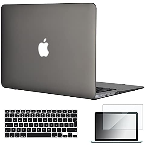 Topideal 3en 1goma mate sedoso satins soft-touch carcasa rígida Carcasa para MacBook Air de 13