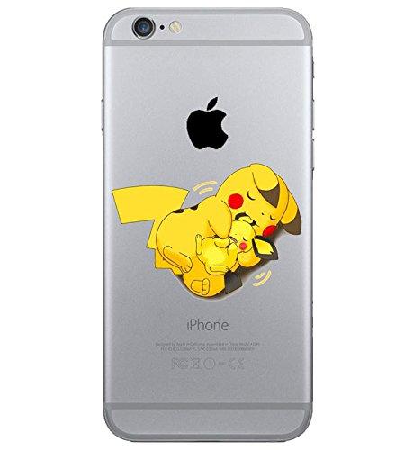 iPhone 5c Pikachu Coque en Silicone / Pokemon Couverture de Gel pour Apple iPhone 5C / Protecteur D'écran et Chiffon / Câlin / iCHOOSE
